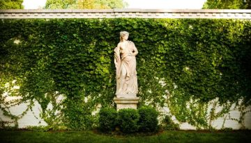Do statues look beautiful in a yard?